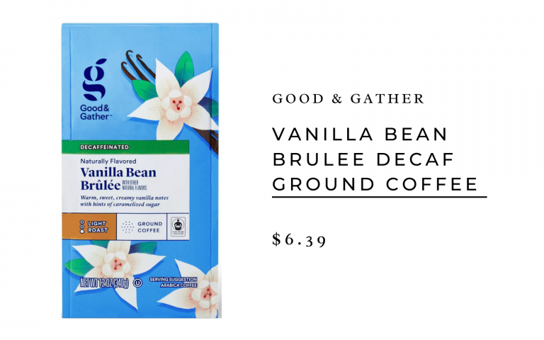 Good & Gather Vanilla Bean Brulee Decaf Ground Coffee