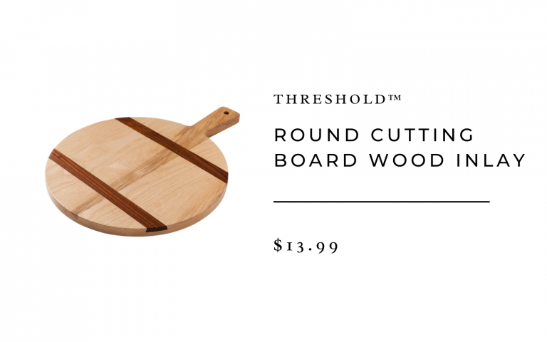 Round Cutting Board Wood Inlay - Threshold™