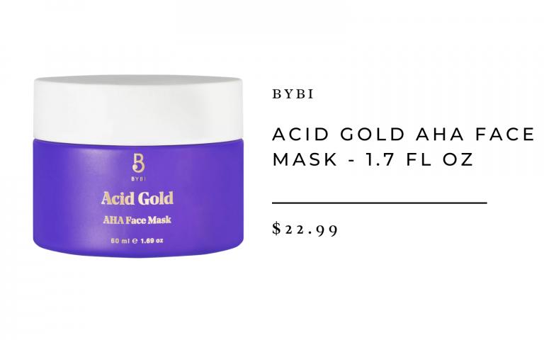 BYBI Acid Gold AHA Face Mask - 1.7 fl oz
