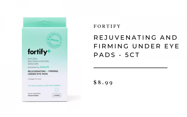 Fortify + Natural Bacteria-Fighting Skincare Rejuvenating and firming under the eye pads - 5ct / 3.7oz