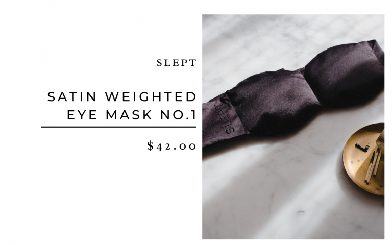 Slept weighted silk mask