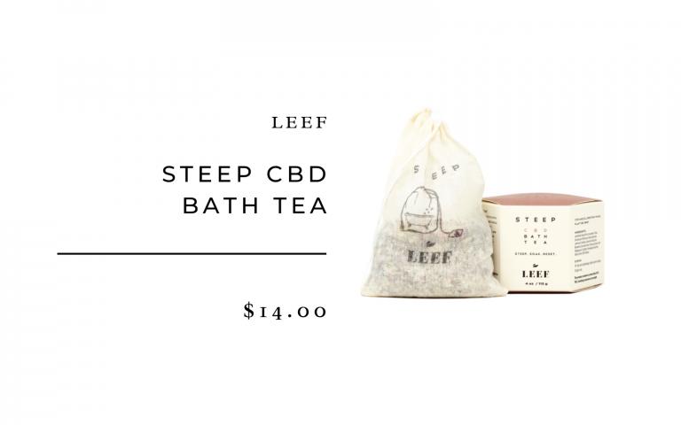 dry brush, cbd bath tea