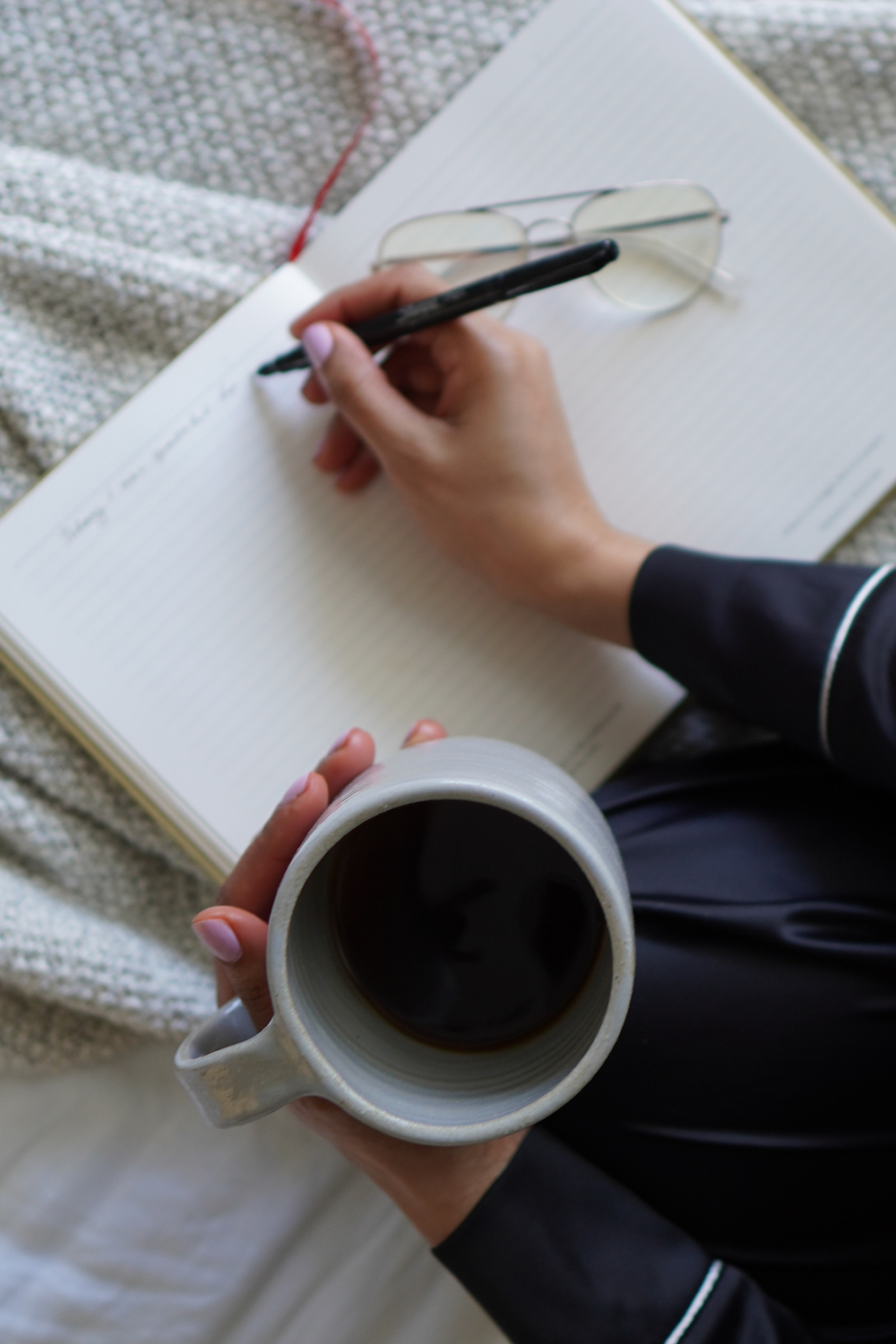 Anna Mae Groves, Stylemakers, coffee, notebook, morning, journaling