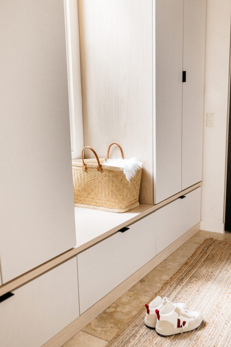 camille styles organized mudroom