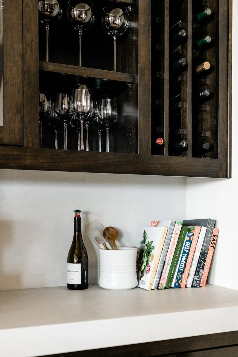 Camille Home Reveal Kitchen Wine