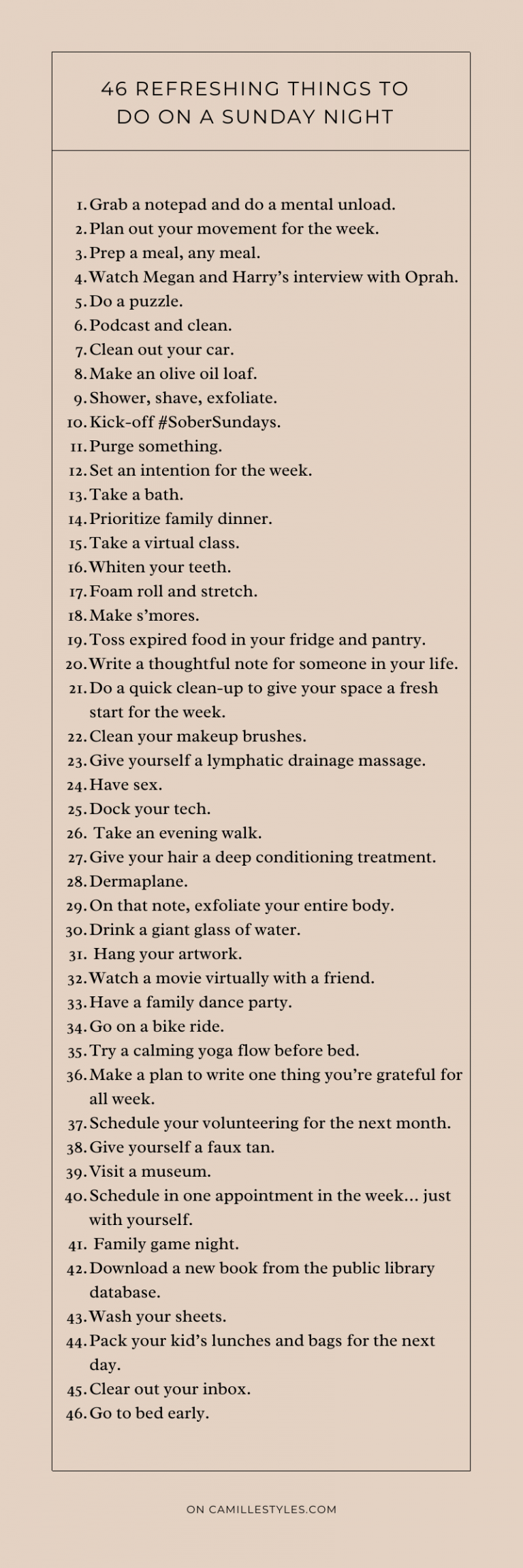Pinterest_ 46 things to do on a sunday