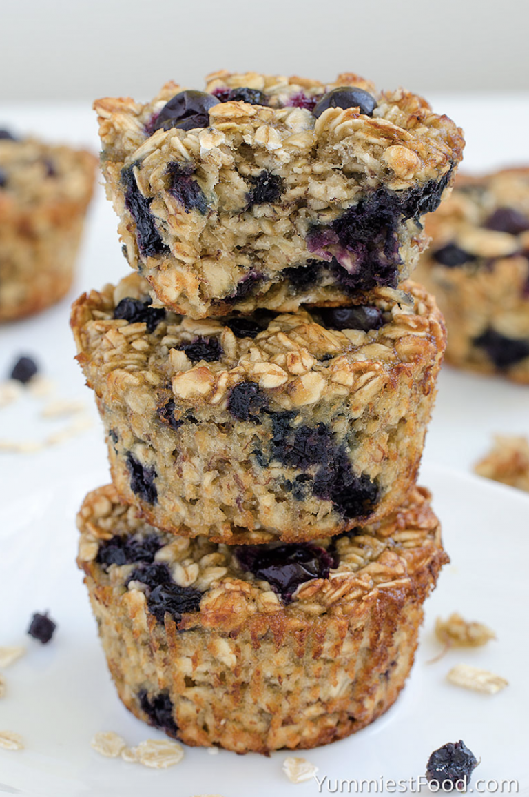 Tastiest Food Baked Blueberry Banana Oatmeal Cups
