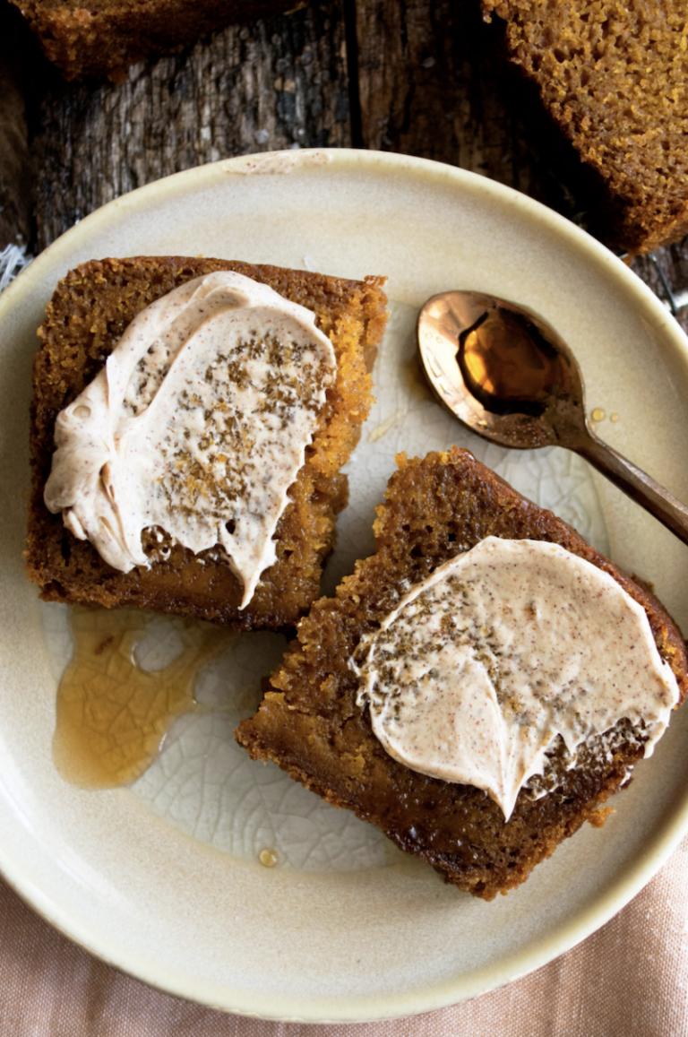 The Original Dish Pumpkin Maple Bread with Cinnamon Butter