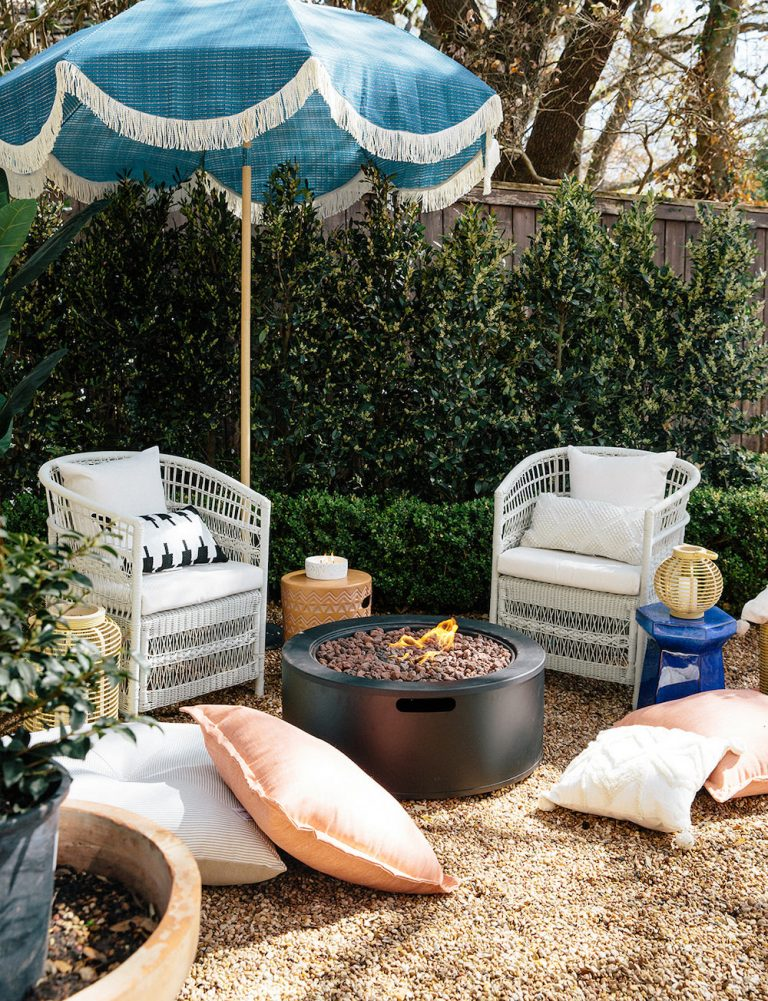 Boho Outdoor Lounge Area with Affordable Target Furniture