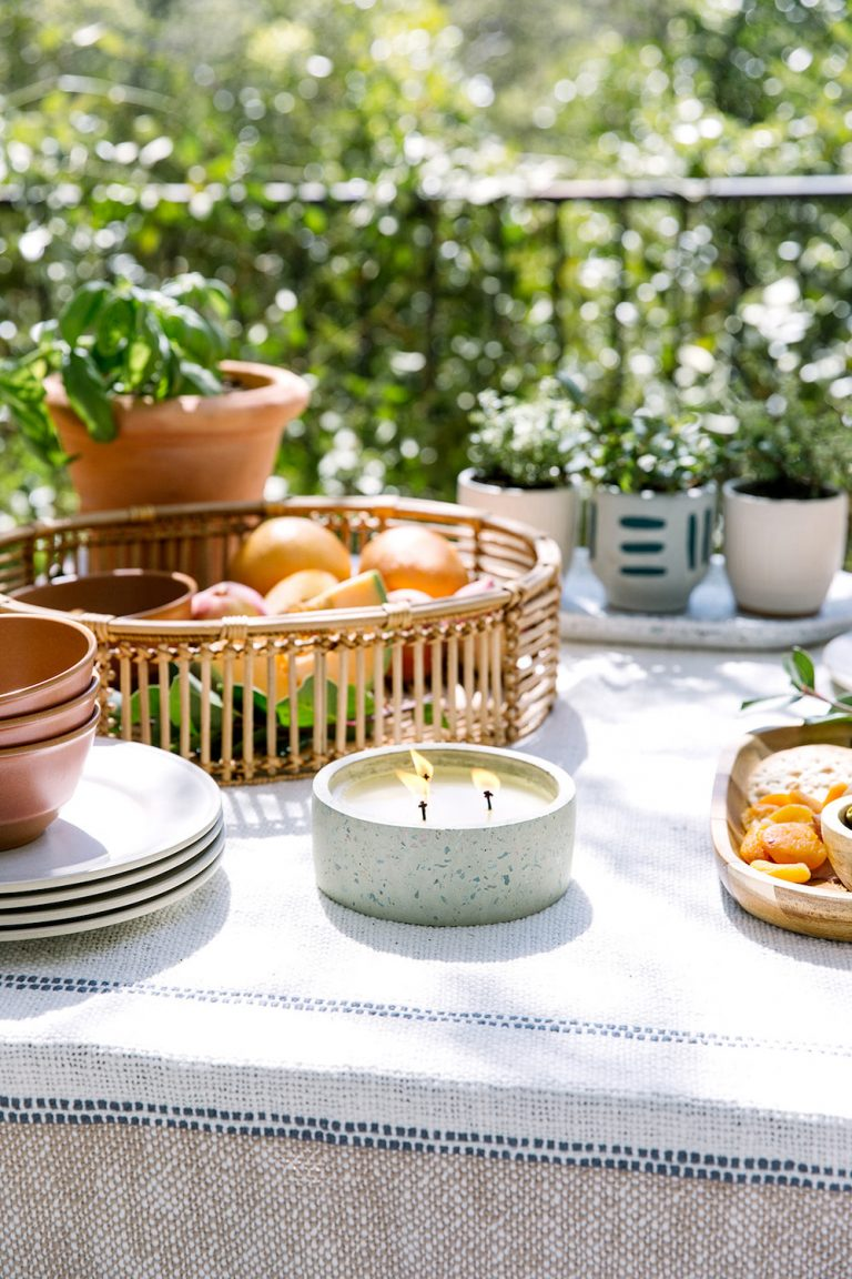 Spring Tabletop with Citronella Candle