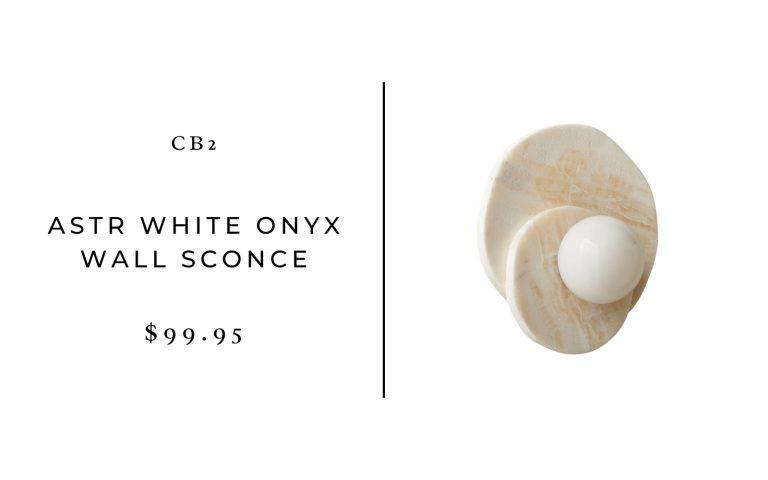 CB2 Astr White Onyx Wall Sconce
