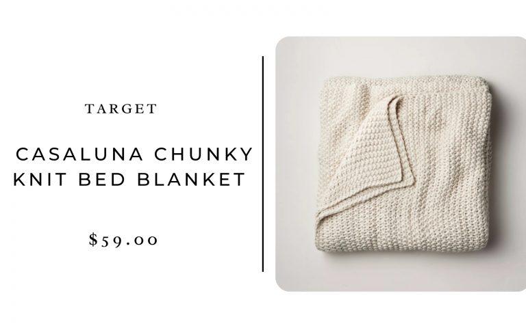 Target Casaluna Chunky Knit Bed Blanket
