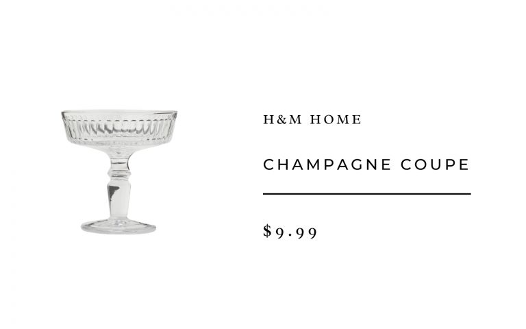 H&M Home Champagne Coupe