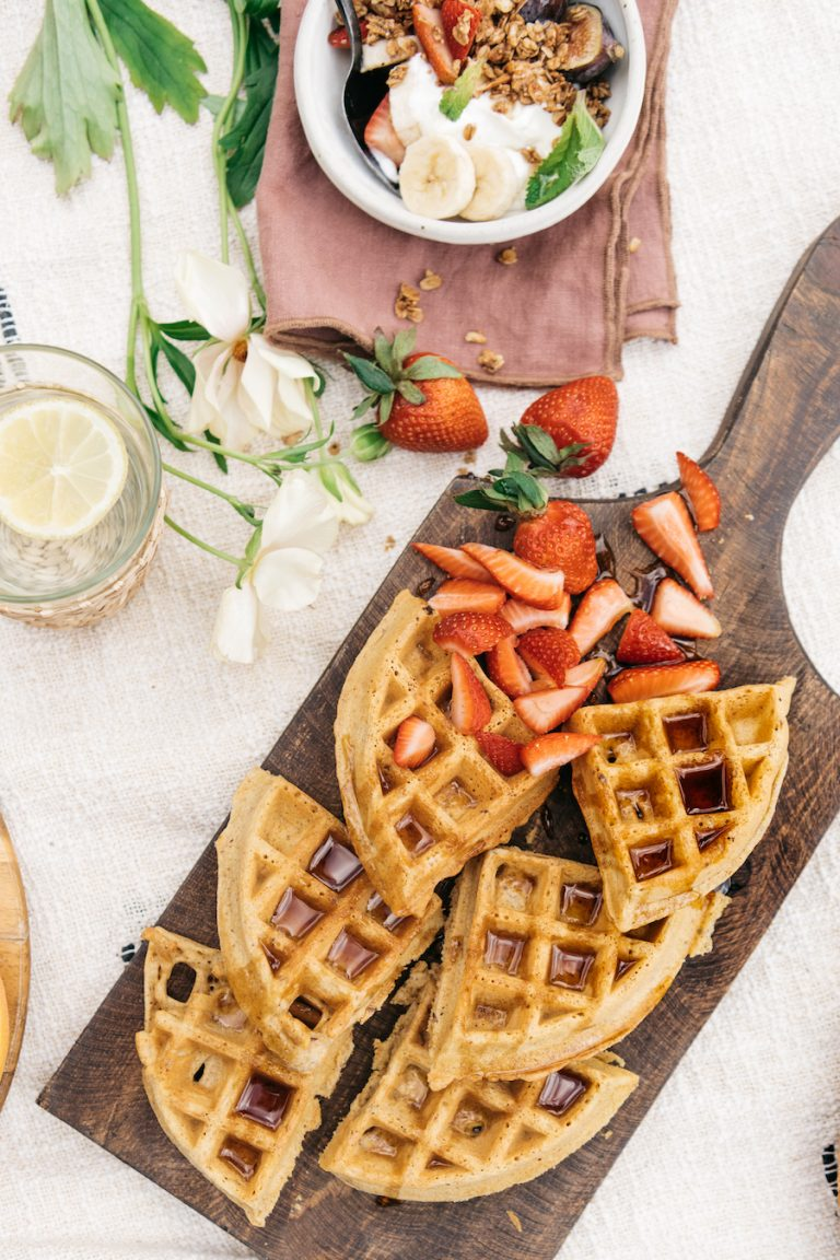 gluten and grain free waffles from purely elizabeth - spring brunch ideas