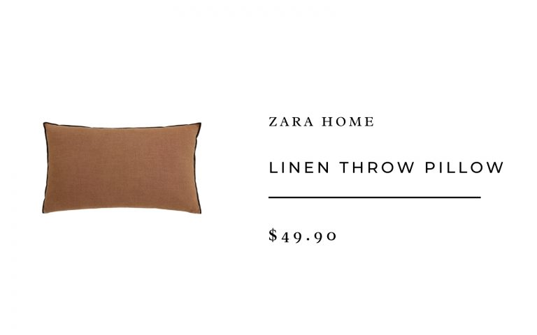Zara Home Linen Throw Pillow