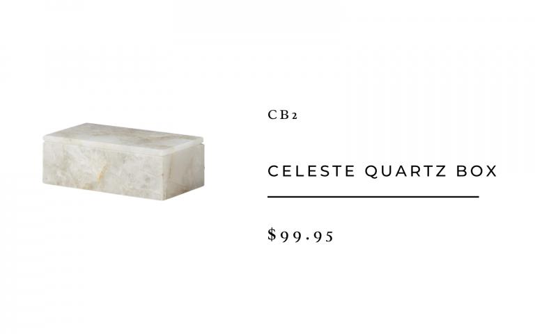 CB2 Celeste Quartz Box