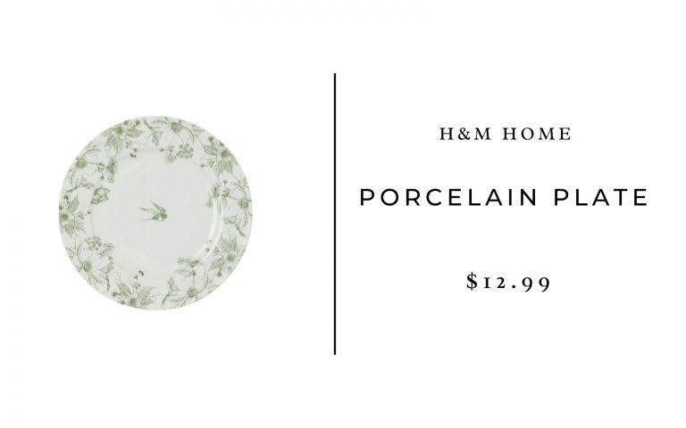 H&M Home Porcelain Plate
