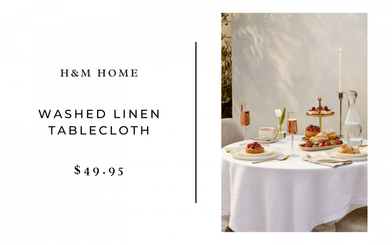 H&M Home Washed Linen Tablecloth