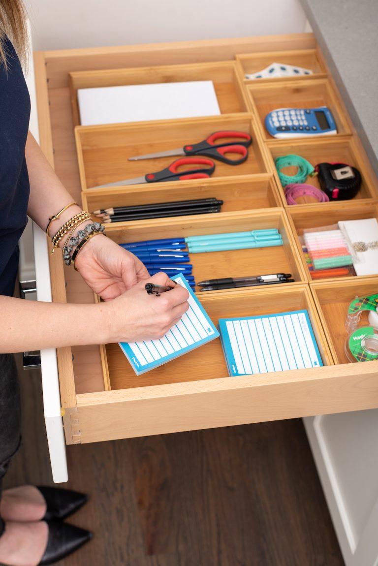 Organize the garbage drawer