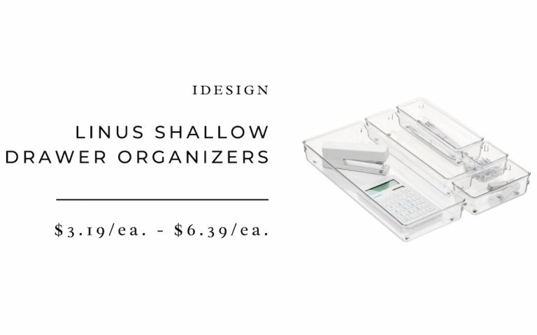 Acrylic shallow drawer organizer