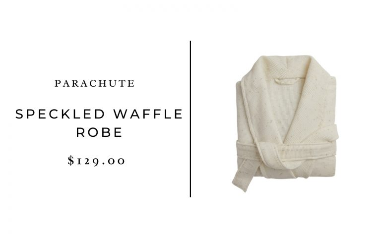 Parachute Speckled Robe & Soft Ribbed Slippers