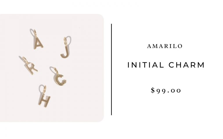 Amarilo Initial Charm