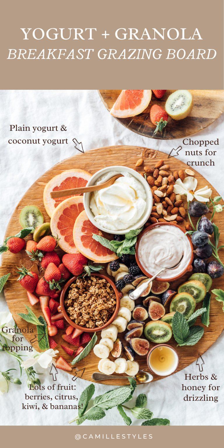 Yogurt and Granola Breakfast Grazing Board