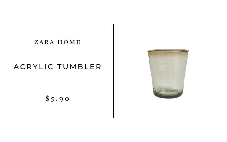 Zara Home Acrylic Tumbler