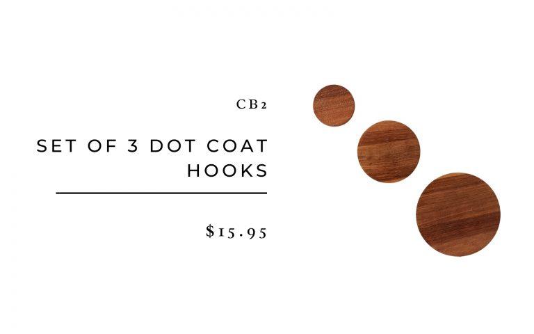 CB2 Set of 3 Dot Coat Hooks