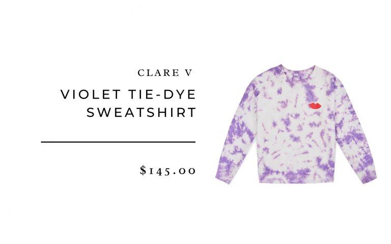 Clare V Violet Tie-Dye Sweatshirt