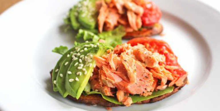Smoked Salmon and Guac Sweet Potato Toast