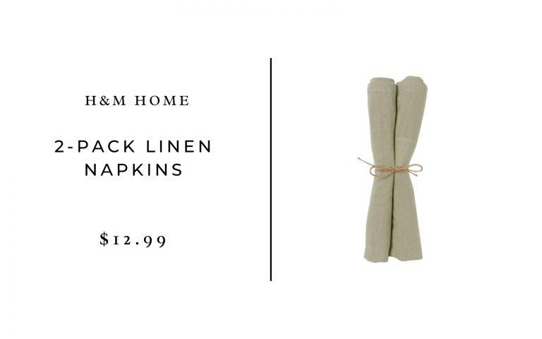 H&M Home 2-pack Linen Napkins