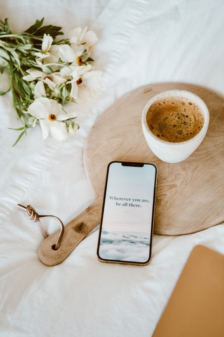phone and coffee - how to eliminate instagram anxiety