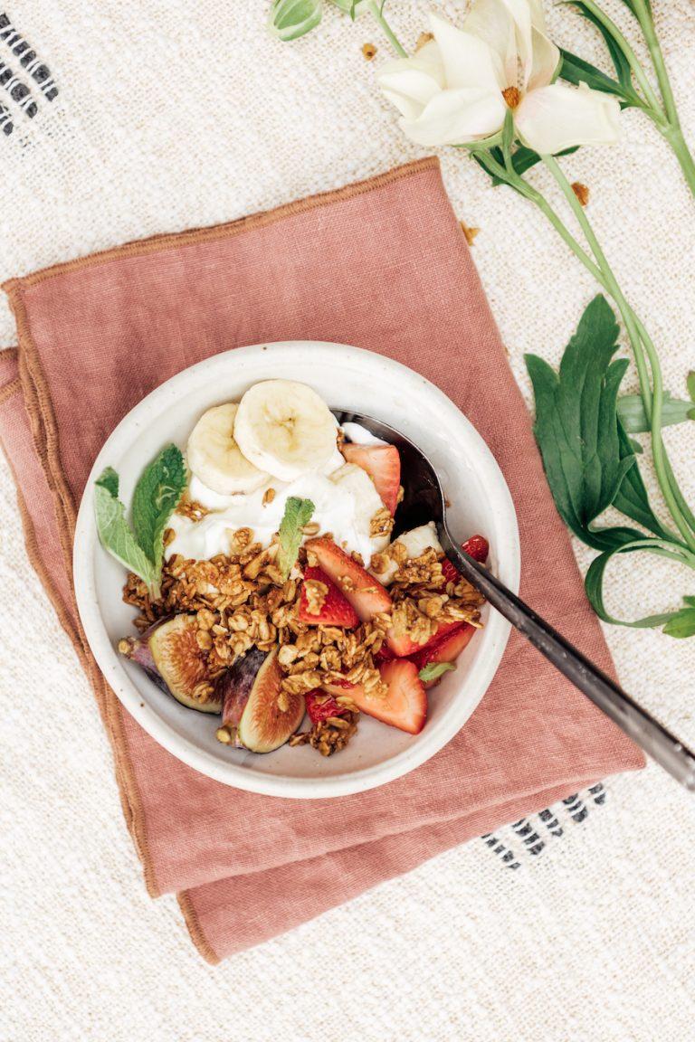 the best yogurt and granola parfait with purely elizabeth