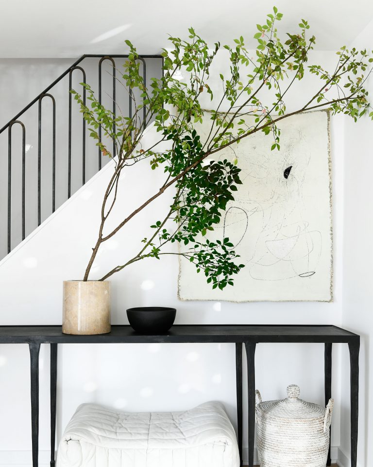 All-white interior design—Leanne Ford