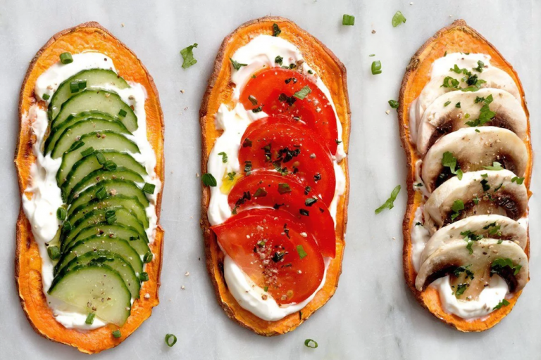 Sweet Potato Toast with Cream Cheese