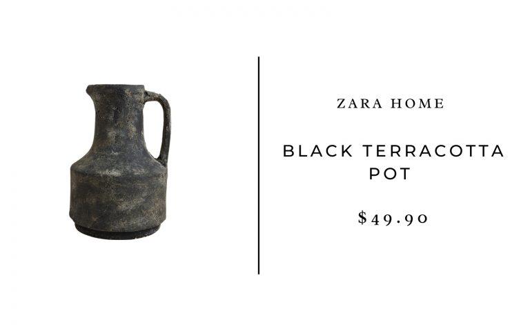 Zara Home Black Terracotta Pot