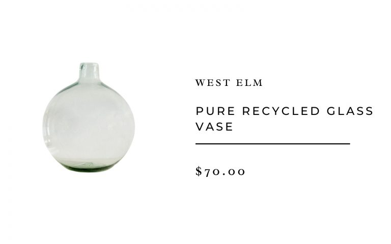 West Elm Pure Recycled Glass Vase