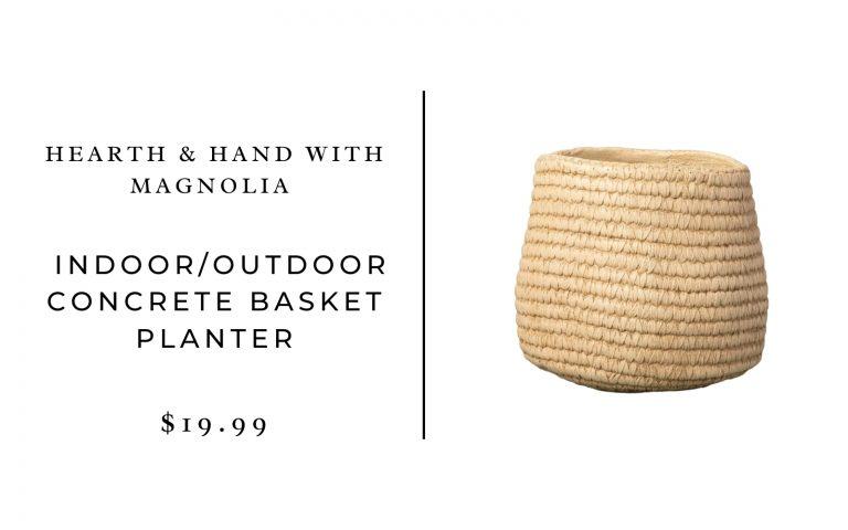Hearth & Hand with Magnolia Indoor/Outdoor Concrete Basket Planter