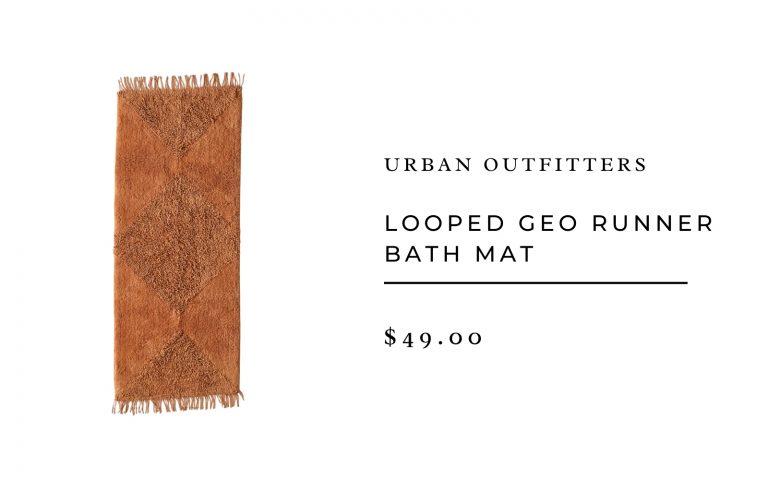 Urban Outfitters Looped Geo Runner Bath Mat