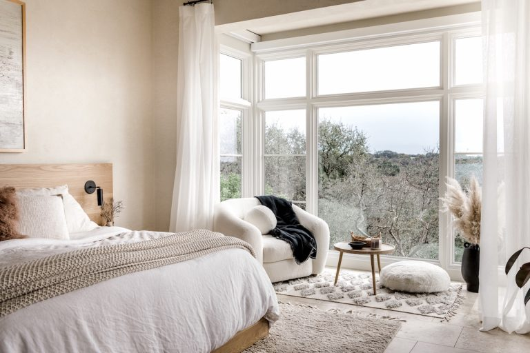 camille styles master bedroom curtains