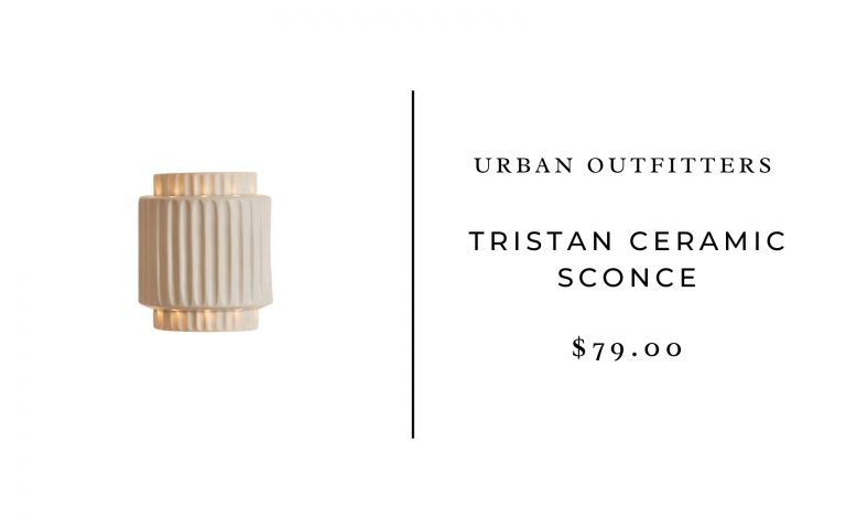 Urban Outfitters Tristan Ceramic Sconce