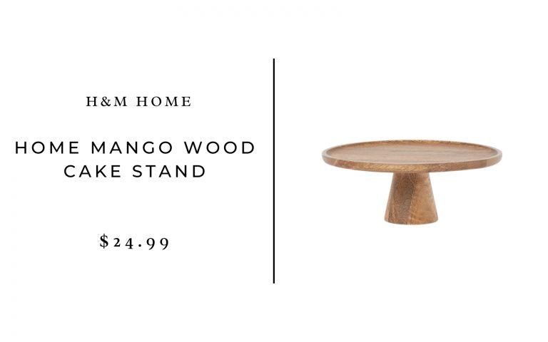 H&M Home Mango Wood Cake Stand