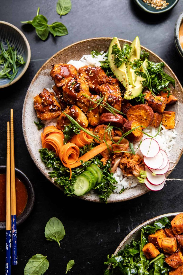 Korean Chicken Bowl with Sweet Potatoes and Yum Yum Sauce — Half Baked Harvest