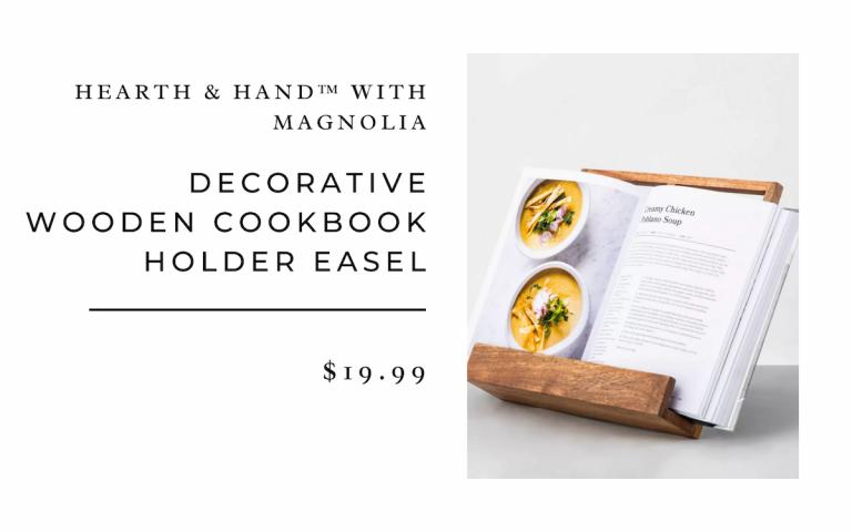 Hearth & Hand with Magnolia Decorative Wooden Cookbook Holder