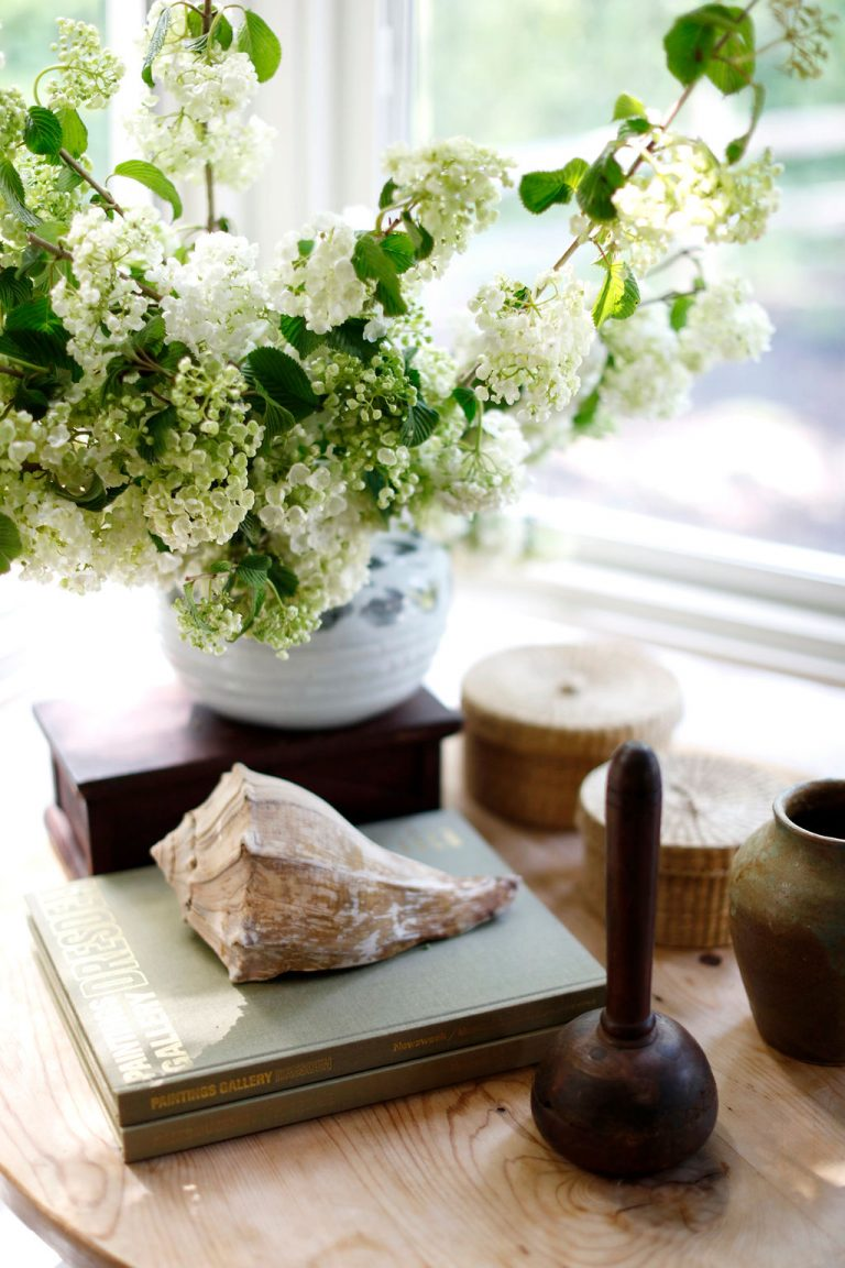 At Home With Kennesha Buycks, Restoration House Blog, Flowers, side table, spring, summer