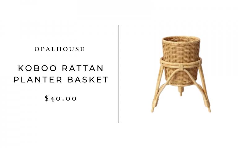 "Opalhouse 13"" x 15"" Koboo Rattan Planter Basket"