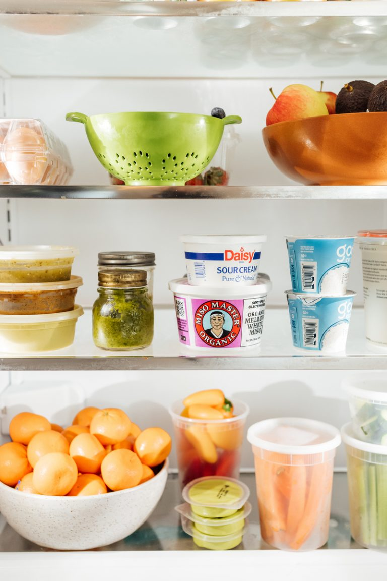 camille styles refrigerator - fresh fruits and veggies - how to stock your fridge