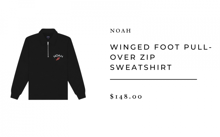 Noah Winged Foot Pull-Over Zip Sweatshirt