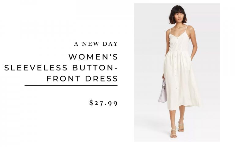 A New Day Women's Sleeveless Button-Front Dress